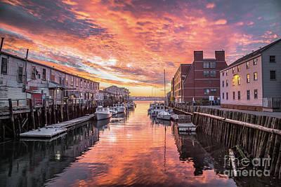 Portland Harbor Sunrise Poster