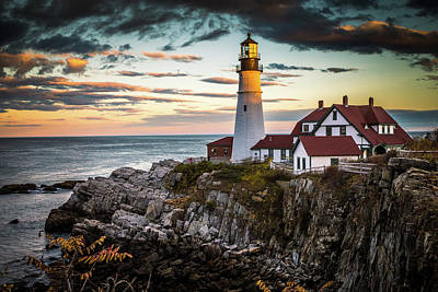 Portland Head Light 2 Poster by Tom Weisbrook