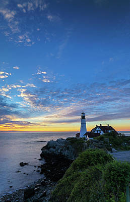 Poster featuring the photograph Portland Head Light Lighthouse by Juergen Roth
