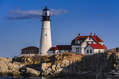Poster featuring the photograph Portland Head Light No. 43 by Mark Myhaver