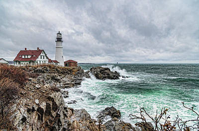 Portland Head Light Nor'easter Poster