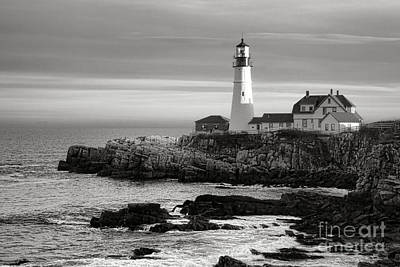 Portland Head Light On Casco Bay Poster by Olivier Le Queinec
