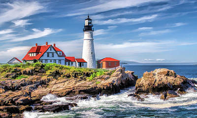 Poster featuring the painting Portland Head Lighthouse by Christopher Arndt