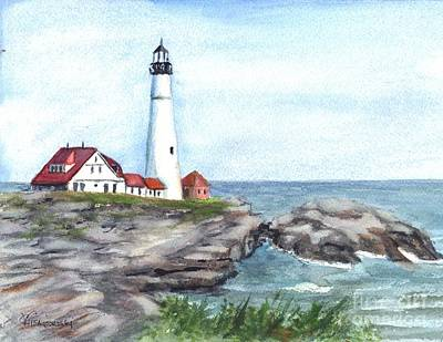 Portland Head Lighthouse Maine Usa Poster
