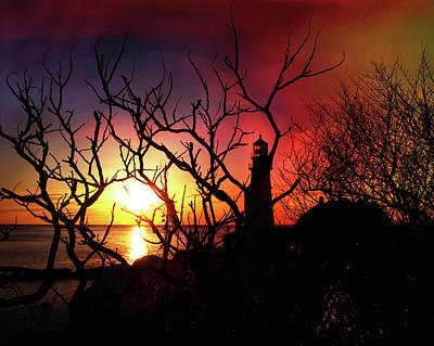 Portland Head Lighthouse Silhouette Poster by Joann Vitali