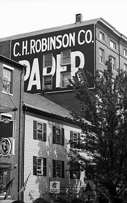 Portland, Maine - Ghost Mural Bw Poster