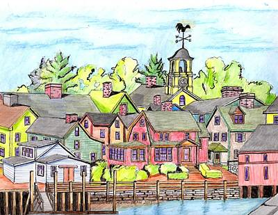 Portmouth Nh Harbor Poster by Paul Meinerth