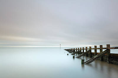 Poster featuring the photograph Portobello Sea Groynes by Grant Glendinning