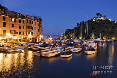 Portofino At Dusk Poster by Jeremy Woodhouse
