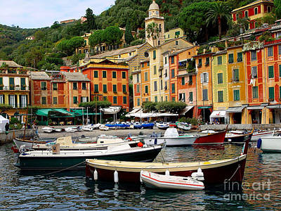 Poster featuring the photograph Portofino Italy by Nancy Bradley