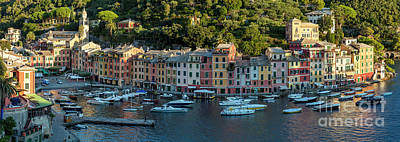 Poster featuring the photograph Portofino Morning Panoramic II by Brian Jannsen
