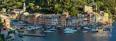 Portofino Morning Panoramic II Poster