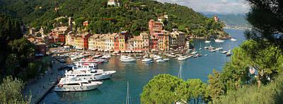 Portofino Panorama Poster by Cliff Wassmann