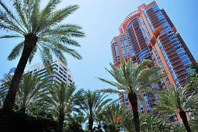 Portofino Towers South Beach Miami Poster by Amanda Vouglas
