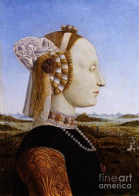Portraif Of Battista Sforza Duchess Of Urbino Poster by Celestial Images