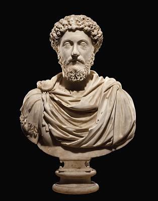 Portrait Bust Of Emperor Marcus Aurelius Poster