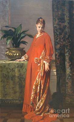 Portrait De Jeanne Meunier Poster by Celestial Images