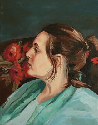 Portrait In Profile Poster