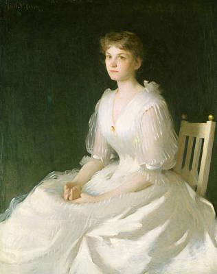 Portrait In White Poster