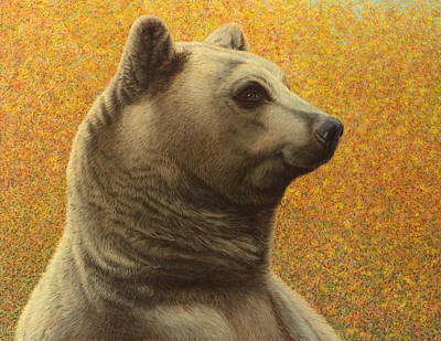 Portrait Of A Bear Poster by James W Johnson