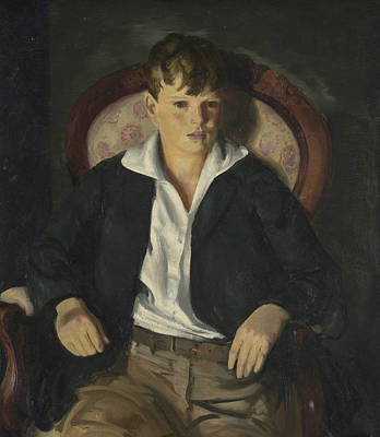 Portrait Of A Boy  Poster by George Bellows