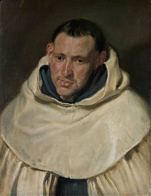 Portrait Of A Carmelite Friar Poster by Anthony van Dyck