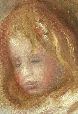 Portrait Of A Child Poster by Pierre Auguste Renoir