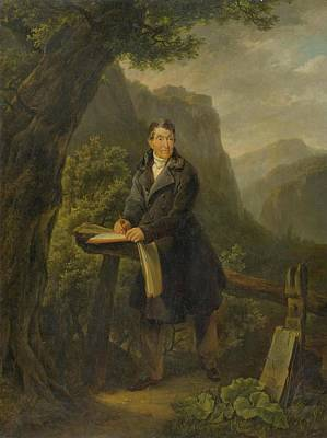 Portrait Of A Draughtsman In A Mountain Landscape Poster by MotionAge Designs