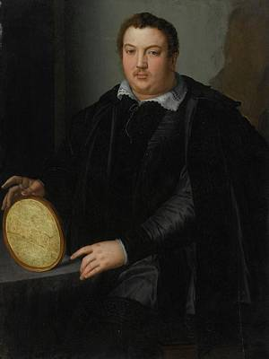 Portrait Of A Gentleman Poster by Alessandro Allori