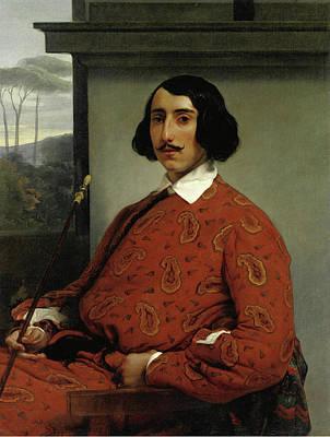 Portrait Of A Gentleman. Duke Manolo Nunez Falco Poster by Francesco Hayez