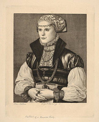 Portrait Of A German Lady Poster