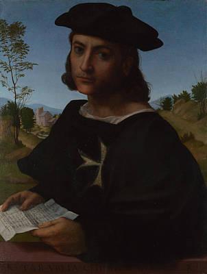 Portrait Of A Knight Of Rhodes Poster by Franciabigio