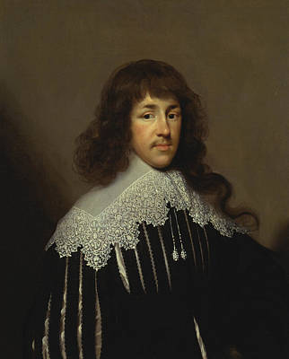 Portrait Of A Man, Probably Sir Francis Godolphin Poster by Cornelius Johnson
