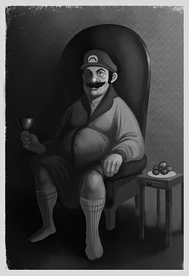 Portrait Of A Plumber Poster by Michael Myers