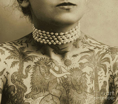 Portrait Of A Tattooed Woman, 1905 Poster