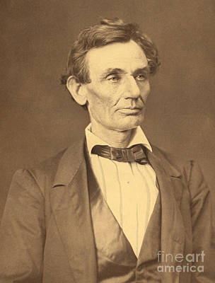 Portrait Of Abraham Lincoln Poster by Alexander Hesler