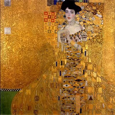 Portrait Of Adele Block-bauer Poster by Gustav Klimt