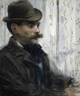 Portrait Of Alphonse Maureau Poster by Edouard Manet