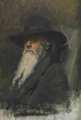 Portrait Of Andrea Malfatti Poster by Alcide Davide Campestrini