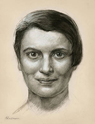 Portrait Of Ayn Rand Poster by Ifat Glassman