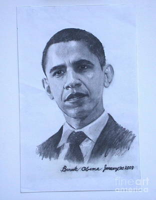 portrait of Barack Obama Poster by Sarah Mariam Yi