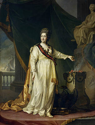 Portrait Of Catherine II The Legislatress In The Temple Of The Goddess Of Justice Poster