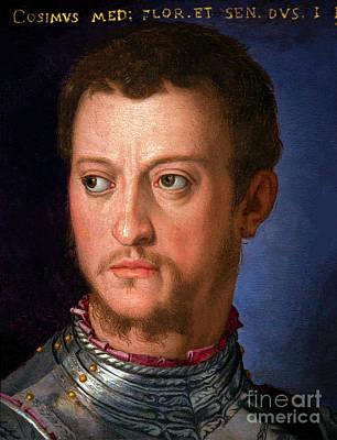 Portrait Of Cosimo I De' Medici, By Agnolo Bronzino, Circa 1560, Poster