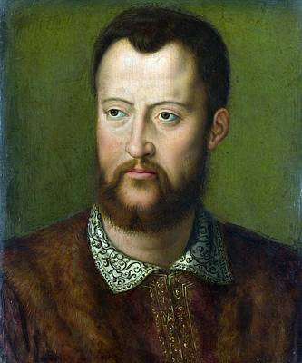 Portrait Of Cosimo I De' Medici Grand Duke Of Tuscany Poster by Celestial Images