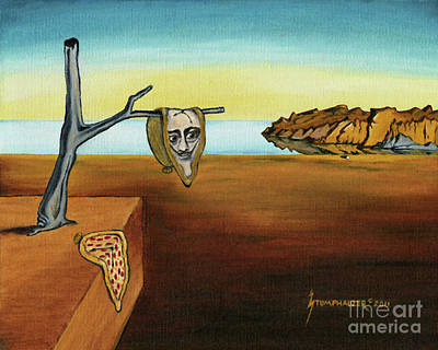 Portrait Of Dali The Persistence Of Memory Poster by Jerome Stumphauzer