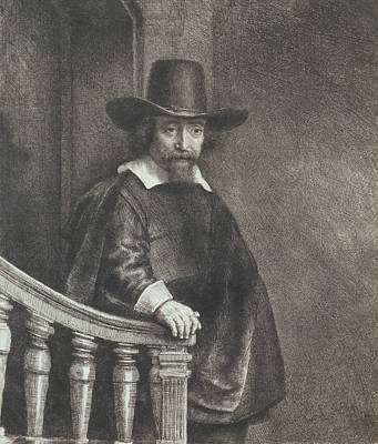 Portrait Of Ephraim Bueno, Physician Poster by Rembrandt