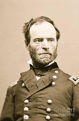 Portrait Of General William Tecumseh Sherman Poster