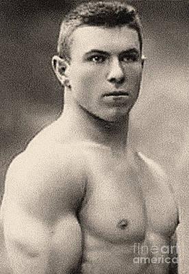 Portrait Of George Hackenschmidt Poster by English School