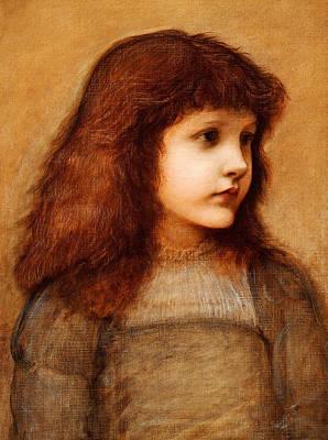 Portrait Of Gertie Lewis Poster by Edward Burne-Jones