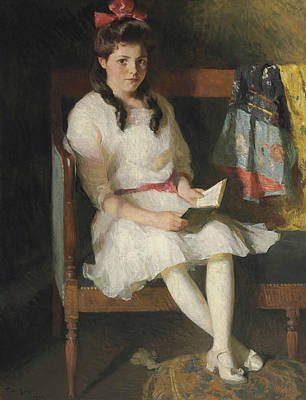 Portrait Of Gertrude Russell Poster by Frank Weston Benson